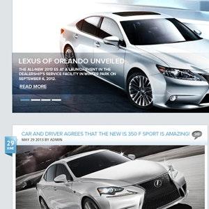 Logo design for Lexus of Orlando Blog  by hafizcom