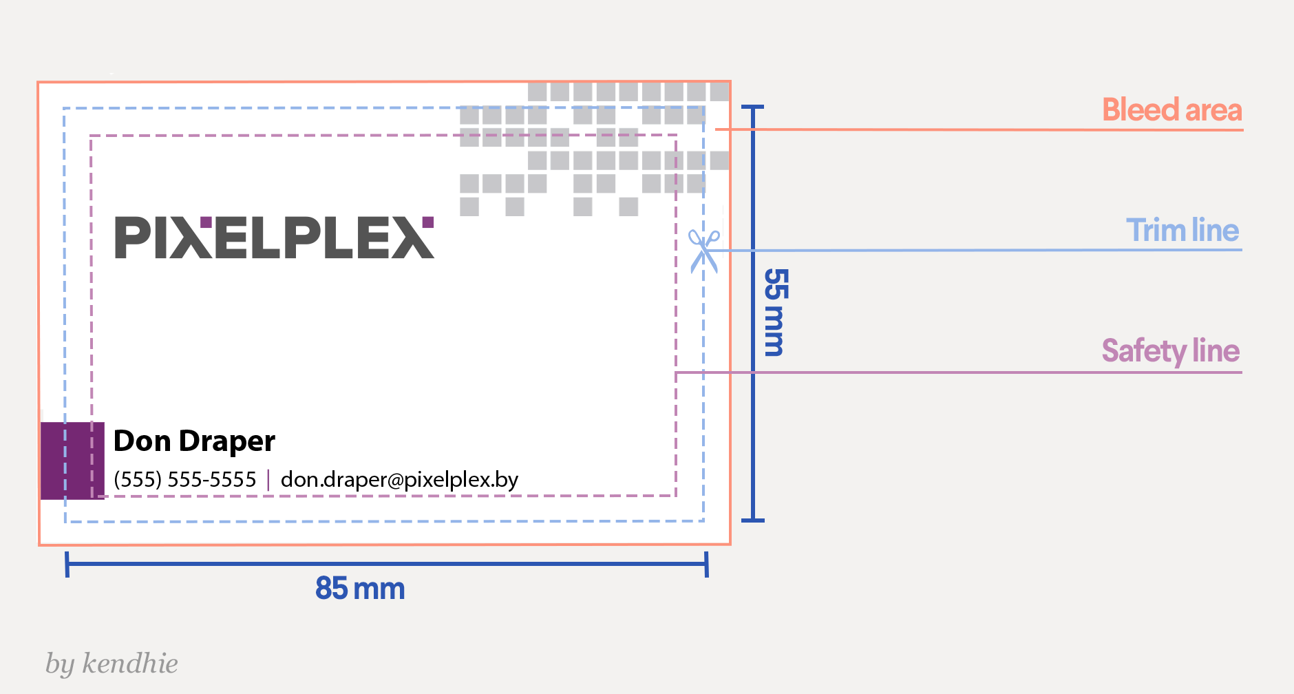 Business Card Template Dimensions