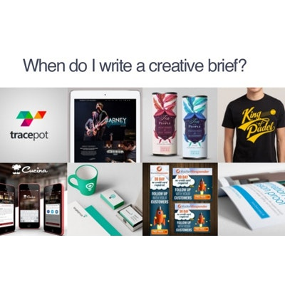 When do I write a creative brief slides