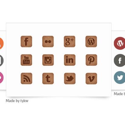 Attirez du traffic sur vos réseaux sociaux grâce à des icônes personnalisées.