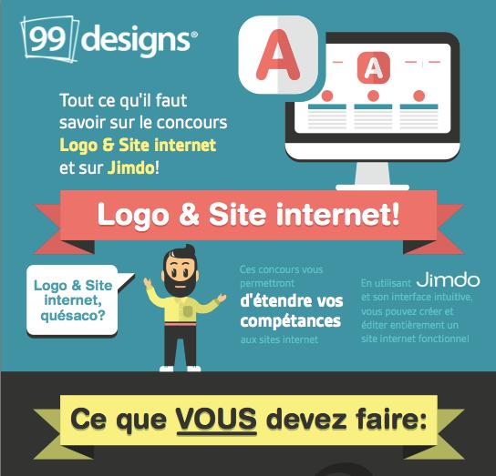 Infographie Logo et site internet
