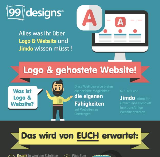Die Infografik enthält eine Checkliste mit Aufgaben, die der Designer erledigen muss und weiteren Informationen zu den Jimdo Features, die Euch für die Erstellung einer schönen, vollständig funktionierenden Website zur Verfügung stehen.
