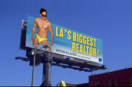 LA real estate agent's billboard