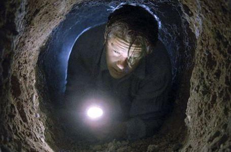 Buchhalter Andy Dufresne bei seinem Fluchtversuch aus Shawshank