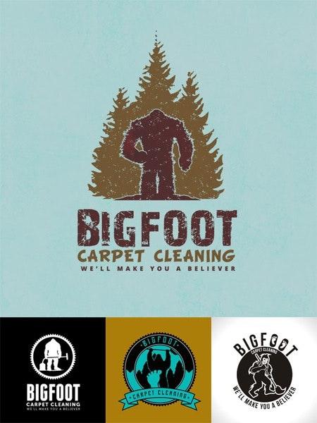 bigfoot carpet cleaning logo design