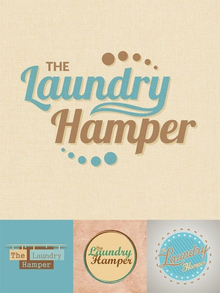 the laundry hamper cleaning logo design