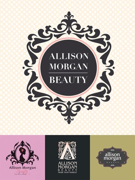 allison morgan spa & esthetics logo design
