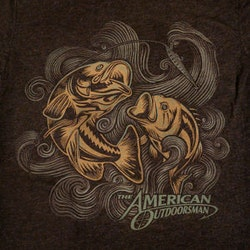 Logopour The American Outdoorsman réalisé par heart, bonestudio