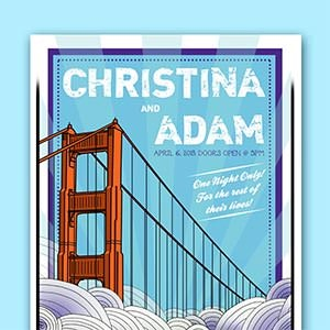 Poster for Christina & Adam by MattDyckStudios
