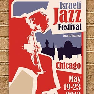Poster for Israeli Jazz Festival by Tonyariewibowo