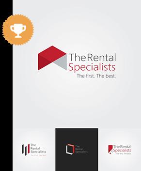 the rental specialists real estate logo design