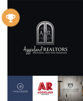 aggieland realtors real estate logo design