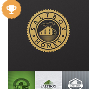 saltbox homes real estate logo design
