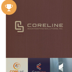 coreline accounting logo design