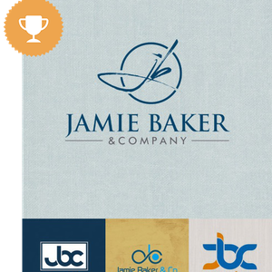 jamie baker accounting logo design