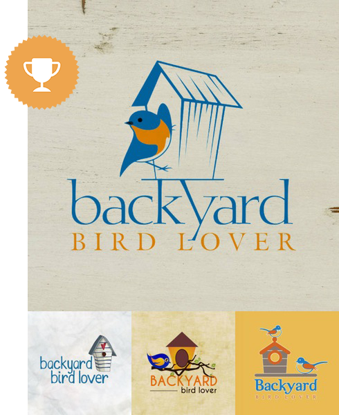 backyard birdlover animals & pets logo design