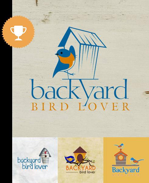 backyard birdlover animals & pets logo design