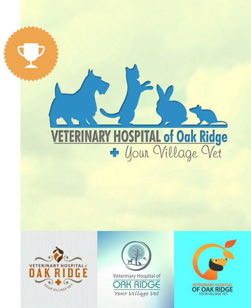 vet hospital of oak ridge animals & pets logo design