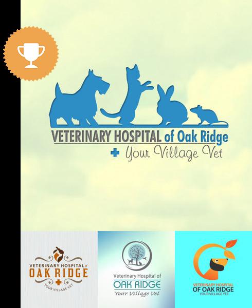 vet hospital of oak ridge animals & pets logo design