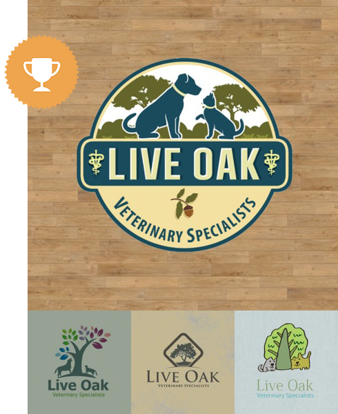 live oak animals & pets logo design