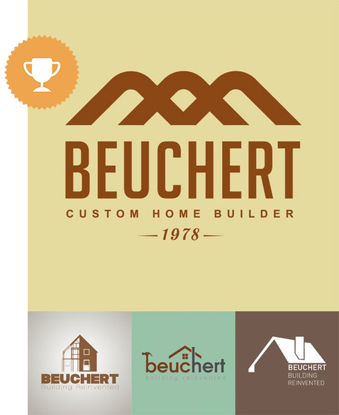 beuchert architectural logo design