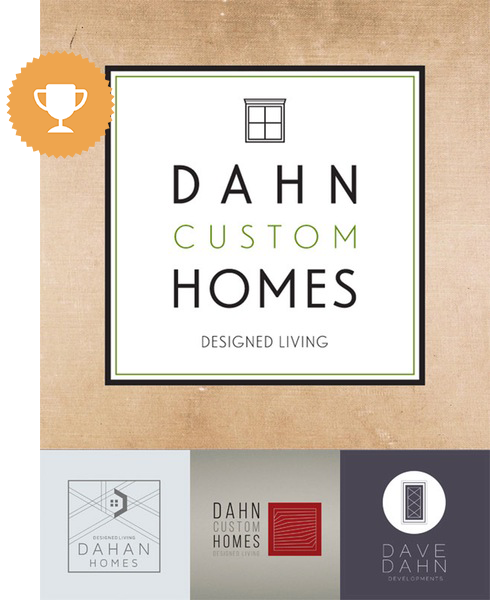 dahn customs homes architectural logo design