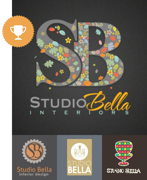 studio bella art & design logo design
