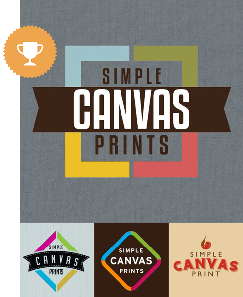 simple canvas prints art & design logo design