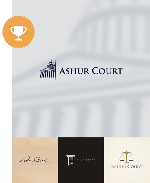 ashore court attorney & law logo design