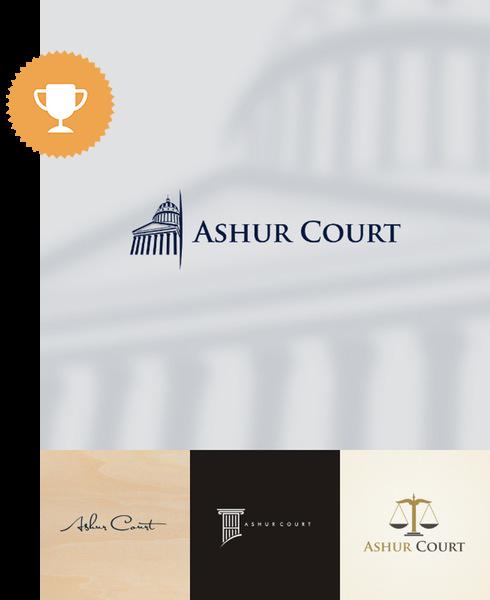 ashore court attorney & law logo design