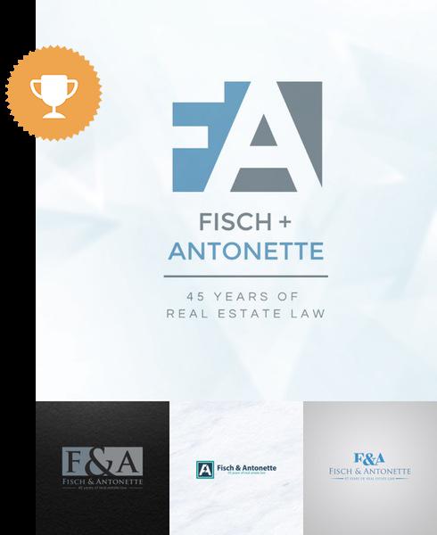 fisch & antonette attorney & law logo design