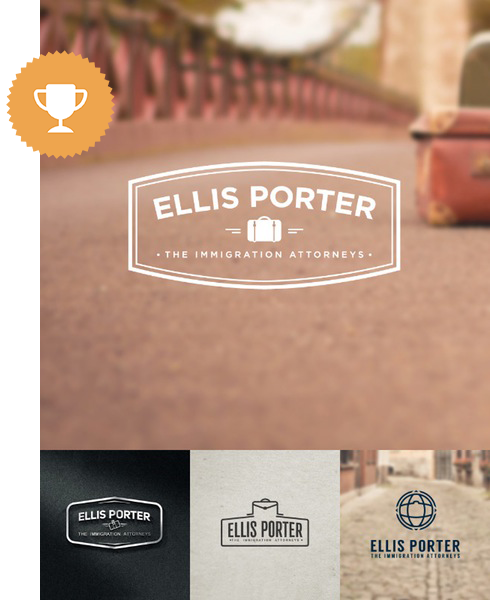 ellis porter attorney & law logo design