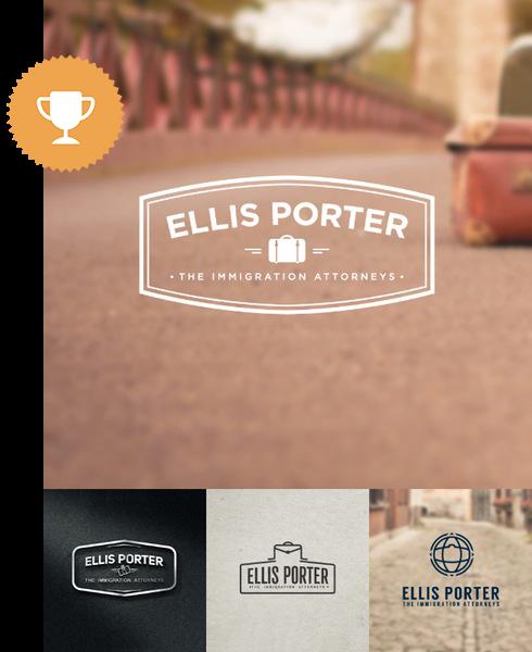 ellis porter attorney & law logo design