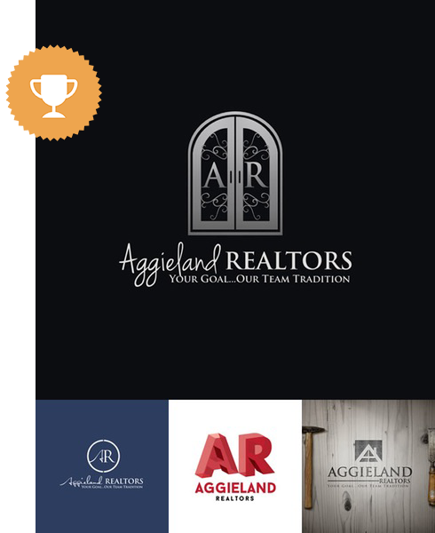 aggieland realtors automotive logo design