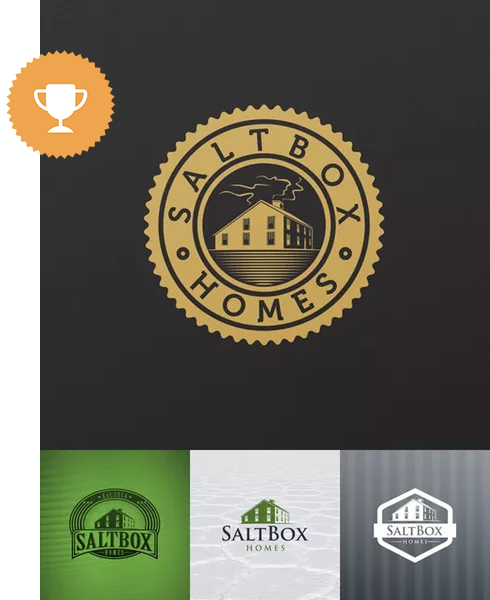 saltbox homes automotive logo design