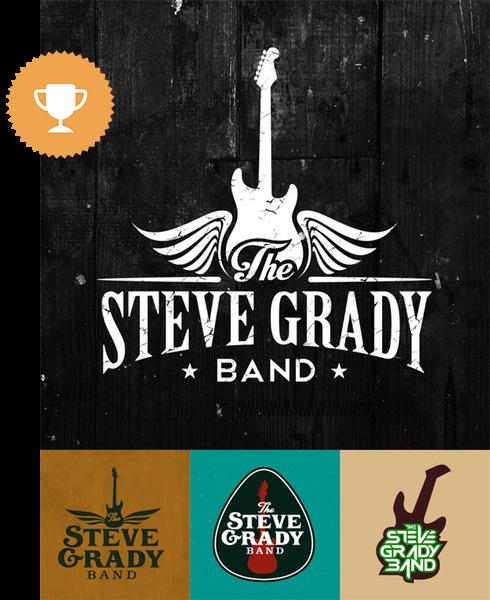 the steve grady band bar & nightclub logo design