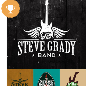 the steve grady band bar & nightclub logo design