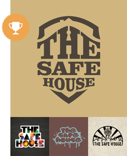 the safe house bar & nightclub logo design