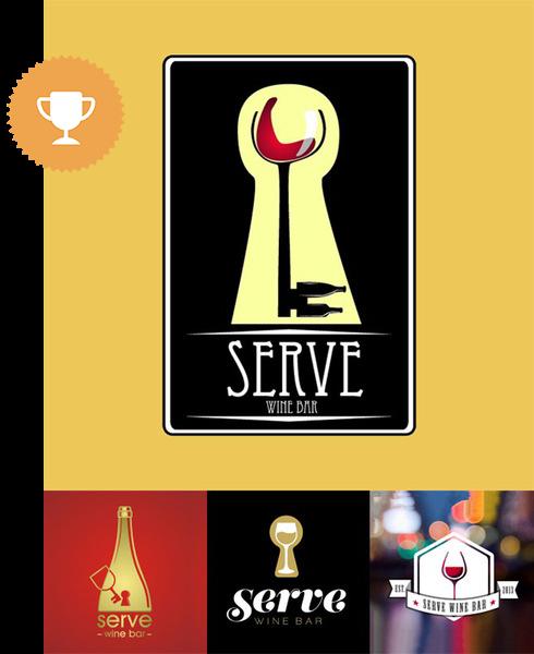 serve wine bar & nightclub logo design