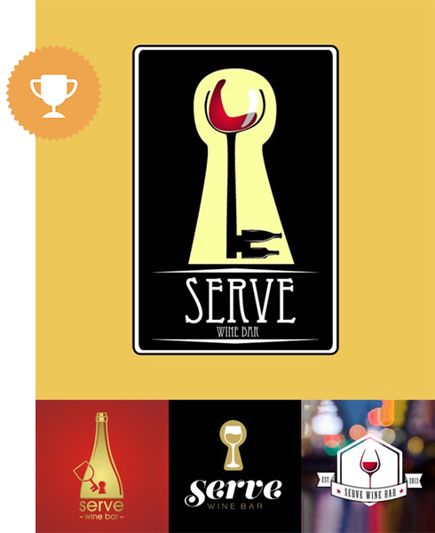 serve wine bar & nightclub logo design