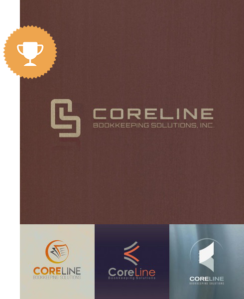 coreline business logo design