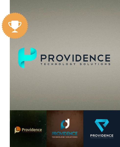 providence technology logo design