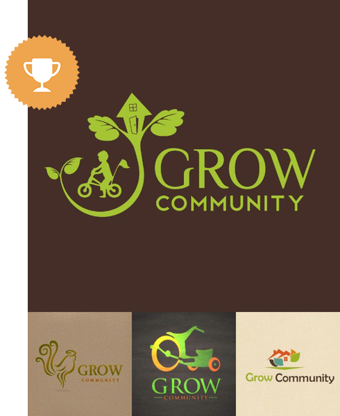 Grow community & non-profit logo design
