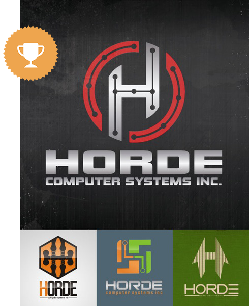 horde computer logo design