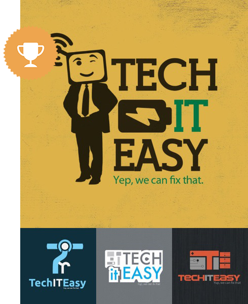 tech it easy computer logo design