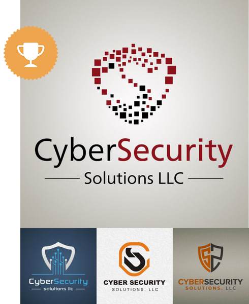 cybersecurity solutions llc computer logo design