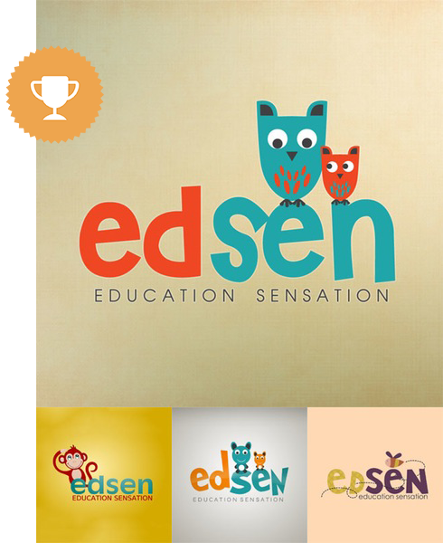 edsen children logo design
