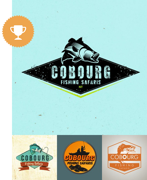 cobourg fishing safaris travel logo design