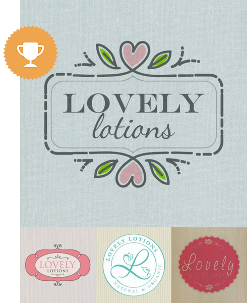 lovely solutions cosmetics & beauty logo design