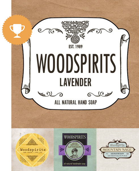 woodspirits cosmetics & beauty logo design